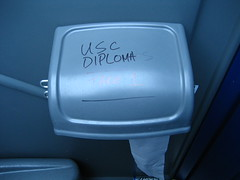 Porta-Potty Grafitti - No love for USC! (Ruth L) Tags: game rivalry sports canon losangeles football grafitti toilet victory powershot ucla usc bruins rosebowl pasadena toiletpaper potty rivals portapotty trojans elph blueandgold digitalelph beatsc sd600 canonpowershotsd600 powershotsd600 bruinpride