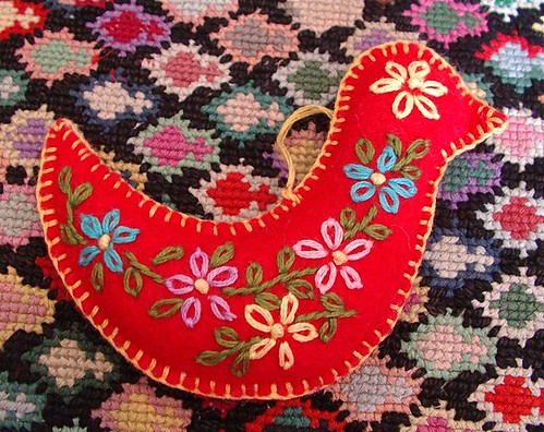 felt ornament dove