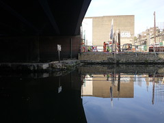 From under the bridge (wanderland.space) Tags: london uk autumn trees nwlondon kensalgreen reflections canal beautiful boat wwwwanderlandspace wanderlandspace bridge       panasoniclumix lumix panasonic
