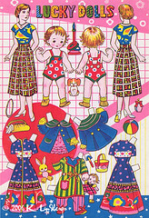 Lucky Dolls (peppermint kiss kiss) Tags: japan vintage paperdolls luckydolls