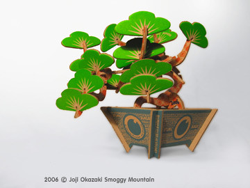 3D Atomic Bonsai (bonzai) Kit Tree from paper