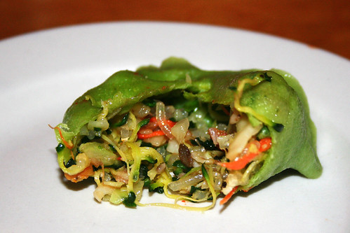 veggie dumpling innards
