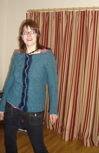 action cabled cardigan