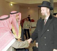 handshake tussen moslims en rabbi