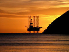 Galaxy Dawn (ccgd) Tags: orange sunrise scotland highlands cromarty oilrig sutor oilplatform jackup