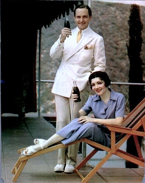 Frederic March and Claudette Colbert, Coca-Cola ad