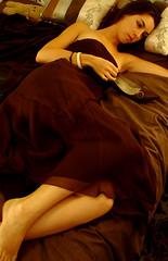 6 (rachel sian) Tags: woman selfportrait girl ball bed bedroom lowlight dress cinderella