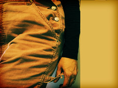 hip (tamelyn) Tags: orange selfportrait black me self gold button overalls 365 hip corduroy day52 frayed 365days utatainhalf utata:project=upfaves