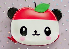 Pandapple Coin Purse (toriloveskitty) Tags: cute apple panda sanrio purse pandapple coinjapan