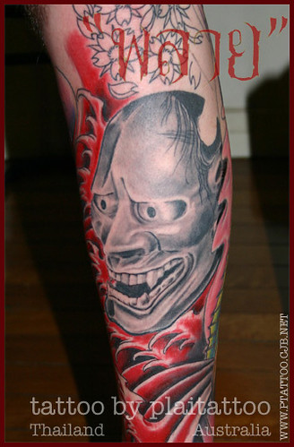My Tattoo work : hanya mask bg2 by plaitattoo
