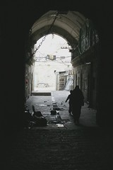 Jerusalem alley (Ross Costantini) Tags: old boy woman dark alley jerusalem