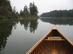 IMG 1651 (Mike Bingley) Tags: autumn sky lake canada reflection fall nature water boat skies bc britishcolumbia atmosphere 2006 nanaimo canoe vancouverisland personalfaves i500 reflectivewater