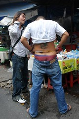 Bangkok - getting sexy (CharlesFred) Tags: travel man sexy male men beautiful beauty sex tattoo thailand back southeastasia masculine bangkok bare bottom handsome uomo thai mens fareast underpants homme cityofangels uomini mannen streetpeoplestreets