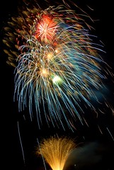 Colour Burst (sjnewton) Tags: november blue red abstract colour green art yellow night d50 stars fantastic nikon display fireworks 10 explosion 2006 hempstead bonfire hemel leverstock