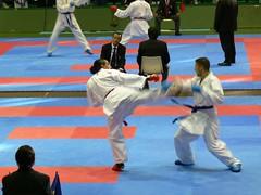 Karate fighting (manuel | MC) Tags: sport fight martial kick arts martialarts karate tatami kungfu 100views kimono combat artsmartiaux
