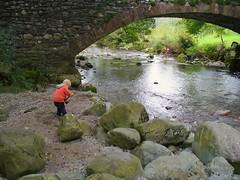 smallest fisherman (exacta2a) Tags: fishing rocks lakedistrict cumbria rivers streams riverderwent
