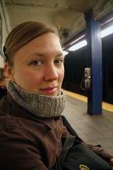 110406_newyork_18.JPG (Ramune Rastonis) Tags: nyc portrait newyork scarf subway timbuk2 waitingforthetrain