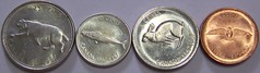 Tails of 1967 (dmswart) Tags: canada money rabbit mackerel centennial coins pigeon dove canadian penny dime 1967 quarter nickel bobcat tails dmswart