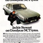 Goodyear NCT / Ford Capri 2.8i / Jackie Stewart  Retro Car Advert
