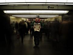 (nattedroomprins) Tags: brussels subway metro brussel wanderer centralstation vagabond rateme17