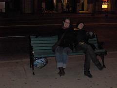 getting tired (herb i am) Tags: blueline busstop torontonight