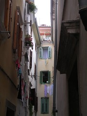 Dark Alley (Flickr Widow) Tags: slovenia piran alleys backstreets