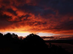 tonight-November (artisanz) Tags: light sunset newzealand sky orange night clouds fire evening e300 gisborne
