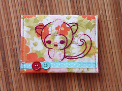 pink baby skunk wallet (lemonade from c_bot) Tags: birdie handmade lemonade owl ribbon bags wallets coinpurses
