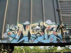 Myth (covered filth) Tags: art car train graffiti artwork box trains boxcar freight myth freights