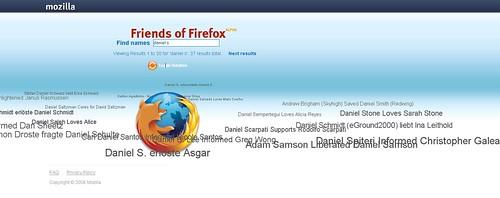 El mural de amigos de Firefox