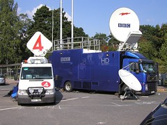 BBC HD SNG (timo_w2s) Tags: news broadcast finland helsinki dish satellite bbc gathering highdefinition hd hidef sng uplink tv4 obtruck