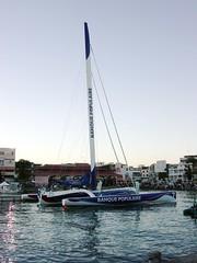 Banque Populaire (MacEnsteph) Tags: sea france sailboat race caribbean sailboats guadeloupe antilles trimaran frenchwestindies fwi orma banquepopulaire routedurhum routedurhum2002 lalouroucayrol pointeapitre