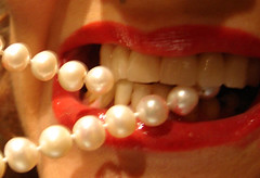 lips-and-pearls (Time-Freeze) Tags: red lips pearls bite