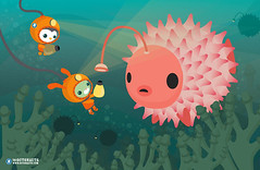 puffer helpers (MEOMI) Tags: light sea fish water bulb poster under deep puffer meomi helpers octonauts
