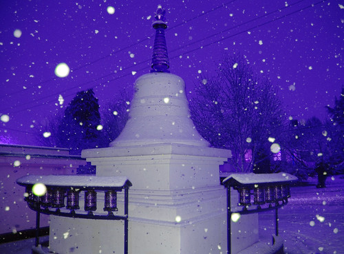blue stupa Sakya Monastery