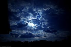 it's arriving... (Aurora Demasi) Tags: blue light sky black dark blu cyan cielo aurora nero overhead luce celeste arriving scuro dite demasi