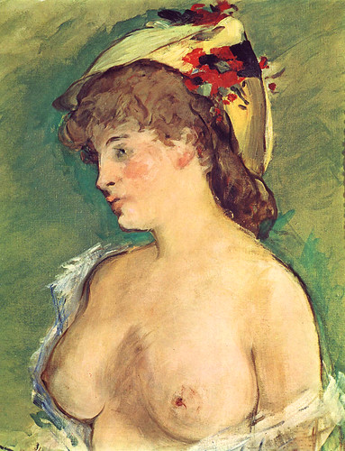 Manet,_Edouard_-_Blonde_Woman_with_Bare_Breasts