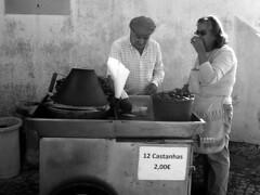 castanhas (tamasmatusik) Tags: castanhas chestnut chestnuts people monochrome portugal portugália cabodaroca bw noiretblanc feketefehér sonynex sony nex3n milc food streetfood