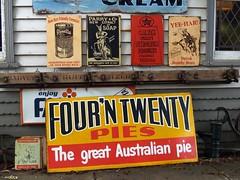 Aussie signs (Kritta) Tags: soap beans australia victoria fart goinghome aussie morningtonpeninsula meatpie fourntwenty fairdinkum