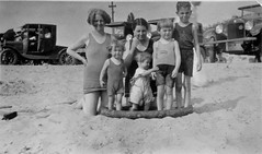 Family on the Beach in 1919 16815