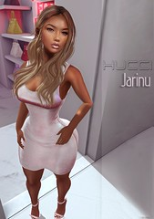 Jarinu @ Collabor88 (Eboni Khan) Tags: hucci houseofhucci fitted mesh 3d dress lara maitreya belleza isis freya hourglass slink holiday c88 collabor88 sequin shine december 2016