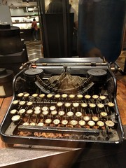 Batterred typewriter in Taipei, Taiwan (ashabot) Tags: taiwan taipei writing