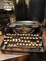 Batterred typewriter in Taipei, Taiwan (ashabot) Tags: taiwan taipei writing