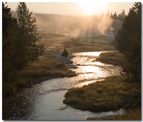 Early morning on the firehole. - 1129