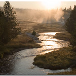 Early morning on the firehole. - 1129 - Do not download this image under any circumstances.