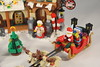10245: Santa's Workshop (bricktasticblog) Tags: 10245 santa workshop santasworkshop christmas christmastree tree sleigh reindeer elves elf conveyor conveyorbelt presents chimney mrsclaus northpole sign snow wreath