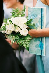 Bridesmaid, booklet and roses (maeve/chris) Tags: blue white silk top20blue