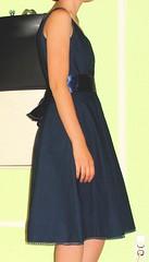 cotton navy dress with satin sash (krinn) Tags: dresses mccalls