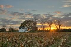 Sunset-Farmouse (jason_minahan) Tags: autumn sunset fall nj princeton hdr mercercounty xti