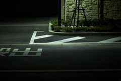 Street Markings (gullevek) Tags: street light white japan night writing tokyo   canonef50mmf14usm canon30d